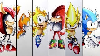 Drawing Sonic Mania Characters - Compilation 2