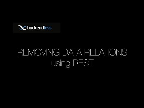 How to Remove Data Relations with Backendless REST