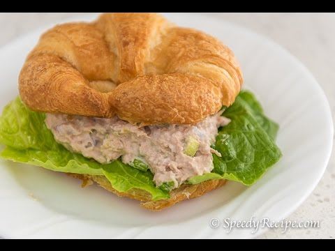 I Can't Believe I Made This Tuna Salad Sandwich Croissant - sooo awesomely simple