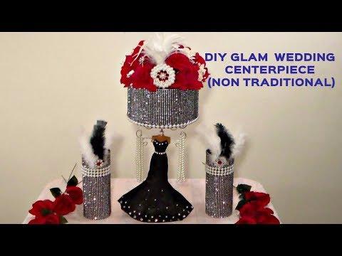 DIY GLAM WEDDING CENTERPIECE (NON TRADITIONAL)
