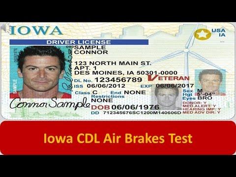 Iowa CDL Air Brakes Test