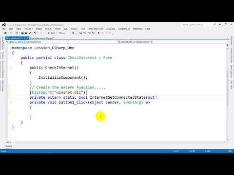 How to Check Internet Connection in C# NET 2012