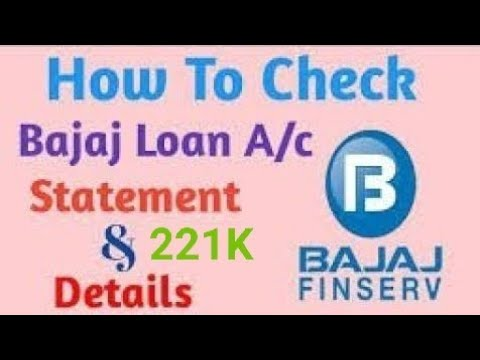 How To Check  Bajaj finace Statement And Loan Details From App