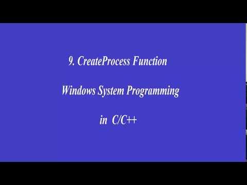 9.CreateProcess Function - Windows System Programming in C/C++