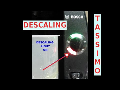 How to Descale your Tassimo : Red Scaling Light Always On