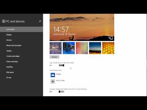 Windows 8.1 Back to basics How to change lockscreen picture and do slideshow