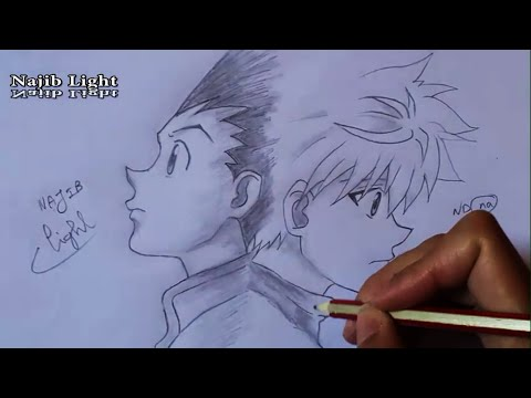 Drawing Gon And Killua's Departure From Hunter X Hunter  ハンターハンター