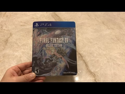Final Fantasy XV Deluxe Edition PS4 Unboxing