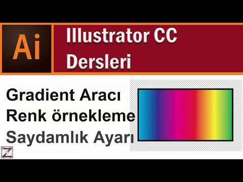 illustrator degrade yapmak | gradient kullanımı damlalık aracı ile renk örnekleme Ders 5.2