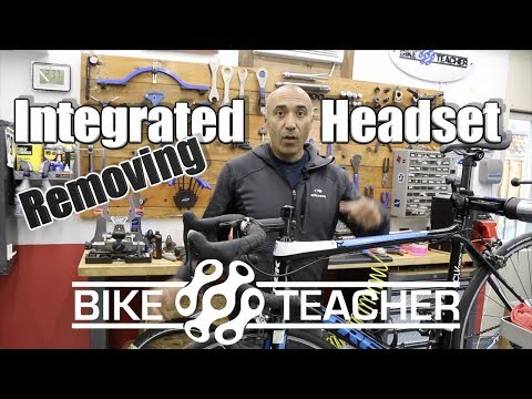 How to remove fork, stem and bearings on a integrated carbon frame.