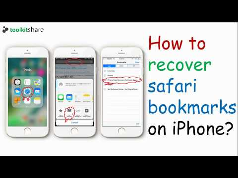 My iPhone safari bookmarks disappeared, how to recover the lost safari bookmarks on iPhone