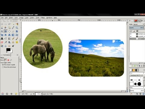 How to cut photos into different shapes - GIMP tutorial