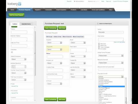 Iceberg 3.0 Workflow Making Purchase Order Forms