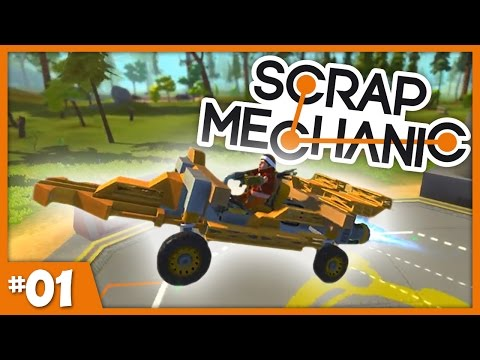 Scrap Mechanic Gameplay! || HOT ROD RACE CAR || Let's Play Ep 1