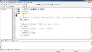 Keypad LCD Embedded C program for 8051 by using Keil IDE