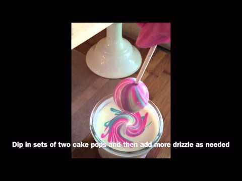 Cake Poppin Tutorials: Marble Swirl Cake Pops