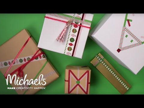 Washi Tape Gift Wrapping | Michaels