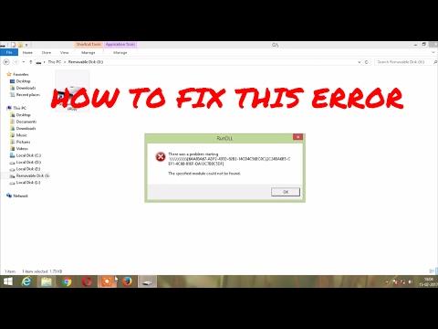 "RUN DLL ERROR in pendrive (""The specified module c"