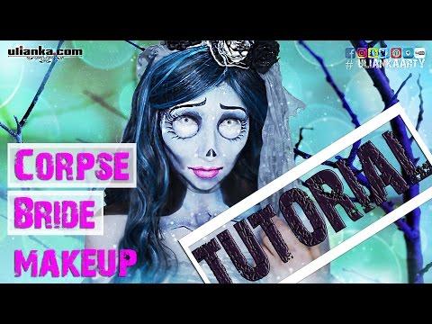 Corpse Bride makeup inspired by Tim Burton's movie. Tutorial