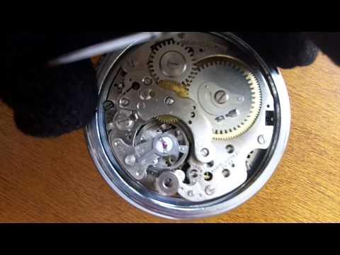 Vintage Swiss Mechanical Alarm Pocket Watch