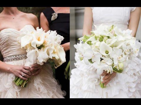 White Calla Lilies Bouquet Wedding