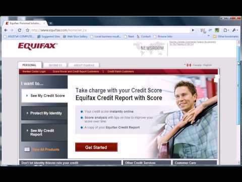 How do I find my free credit report on Equifax.ca