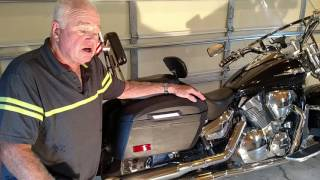 Honda VTX 1800c w/ Viking Bags Leather Hard Bags Installation
