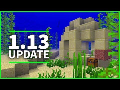 🐠 Minecraft 1.13 Update - UNDERWATER RUINS AND CORAL BLOCKS - Minecraft 1.13 Snapshot 18w09a