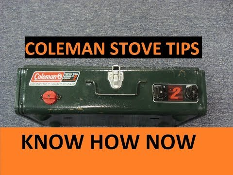 How to Use a Coleman Propane Camp Stove