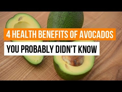 4 Health Benefits of Avocados you probably didn't know