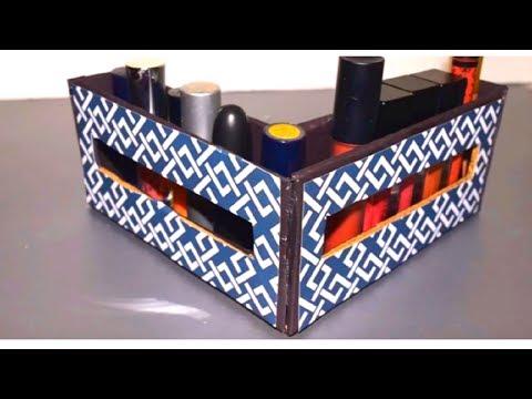 {DIY} Liquid Lipstick Holder  | Cardboard Storage