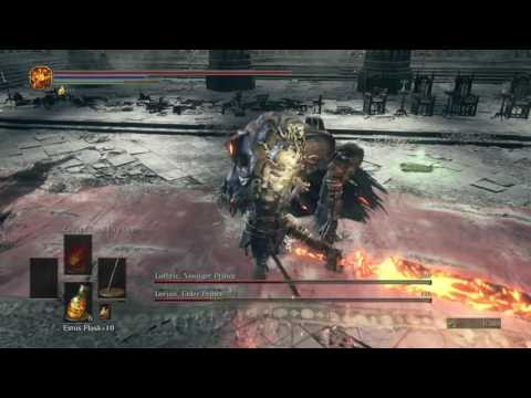 DARK SOULS III (PS4) - The Twin Princes, Lothric and Lorian - NG++ (One of my many failures!)