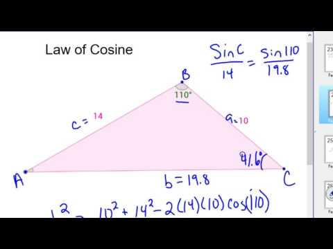 How to use the Law of Cosine