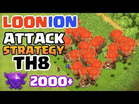 BEST TH8 LOONION ATTACK STRATEGY 2017 🏆 Balloon Minion 3 Star Attack Army - Clash of Clans