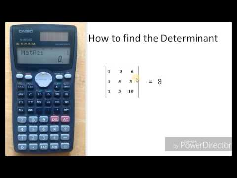 How to find the determinant value of matrix in calculator | Casio fx991 MS | The calculator King