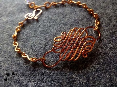 Wire knot bracelet - handmade copper jewelry 104