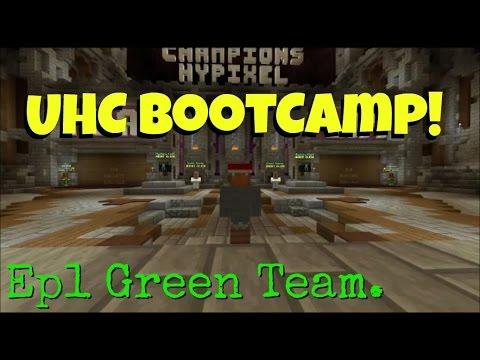 Minecraft PC - UHC Bootcamp! Ep1 Green Team
