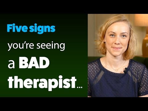 5 Signs You Are Seeing a BAD Therapist! psychology & mental health with Kati Morton