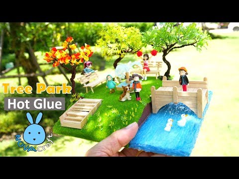 Wire Tree Garden Park Miniature Diorama | Awesome Hot Glue DIY Life Hacks for Crafting Art #032