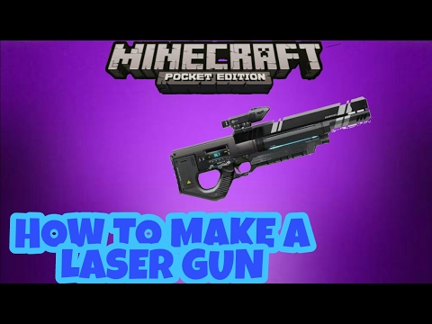 MINECRAFT PE: HOW TO MAKE A LASER