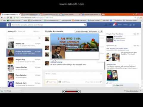 how to upload video in facebook chat