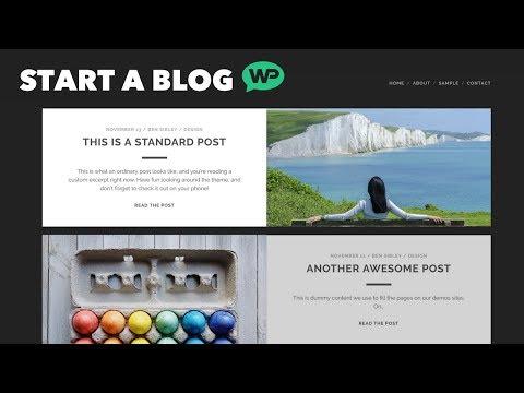 How To Start A Blog using WordPress ★ Step by Step ★