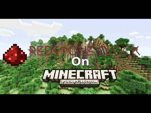 ✔ HOW TO MAKE REDSTONE CLOCK IN MCPE AND WINDOWS 10 EDITION