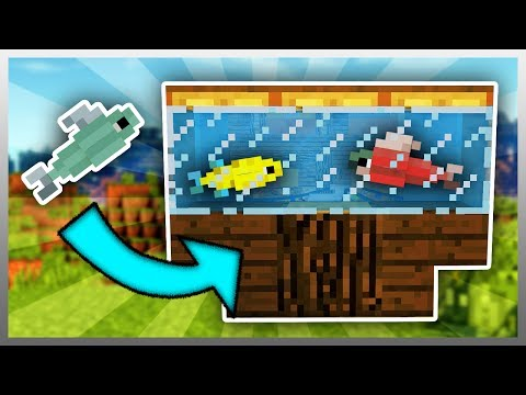 ✔️ Working FISH TANK in Minecraft! (Minecraft Mod)