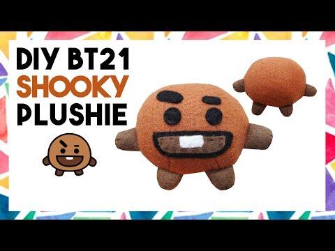 DIY BT21 SHOOKY PLUSHIE! (FREE TEMPLATE) [CREATIVE WEDNESDAY]