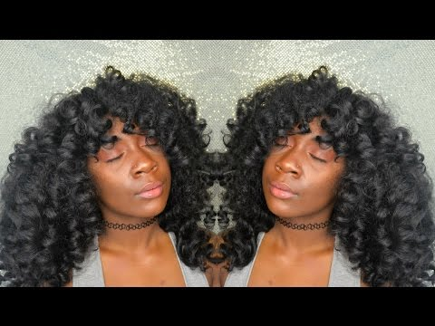 Natural Hair | Huge Heatless Curls ft The Mane Choice