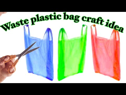 how to reuse plastic bags | art and  crafts ideas | plastic bags craft ideas