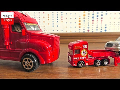 Car Transporters Video for Kids | Moving Toy Cars from Various Locations