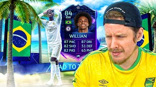 WHO VOTED FOR THIS?! 84 ROAD TO THE FINAL WILLIAN PLAYER REVIEW! FIFA 20 Ultimate Team