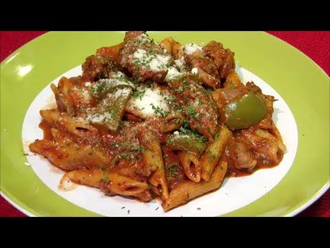 Chicken and Penne Pasta with Spicy Tomato Cream Sauce
